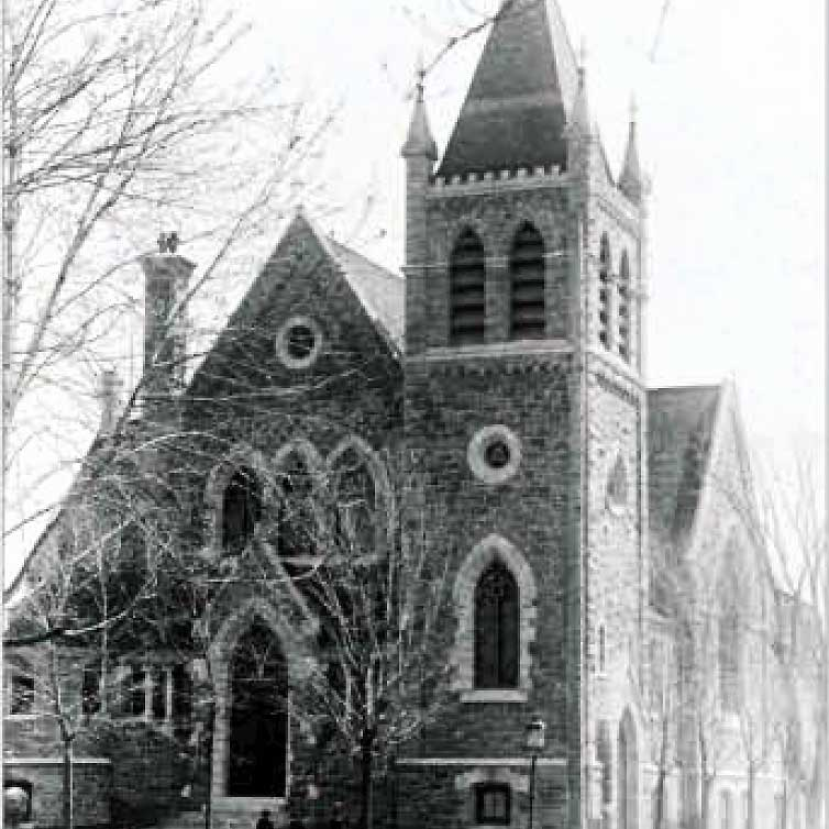 Historical view of church exterior