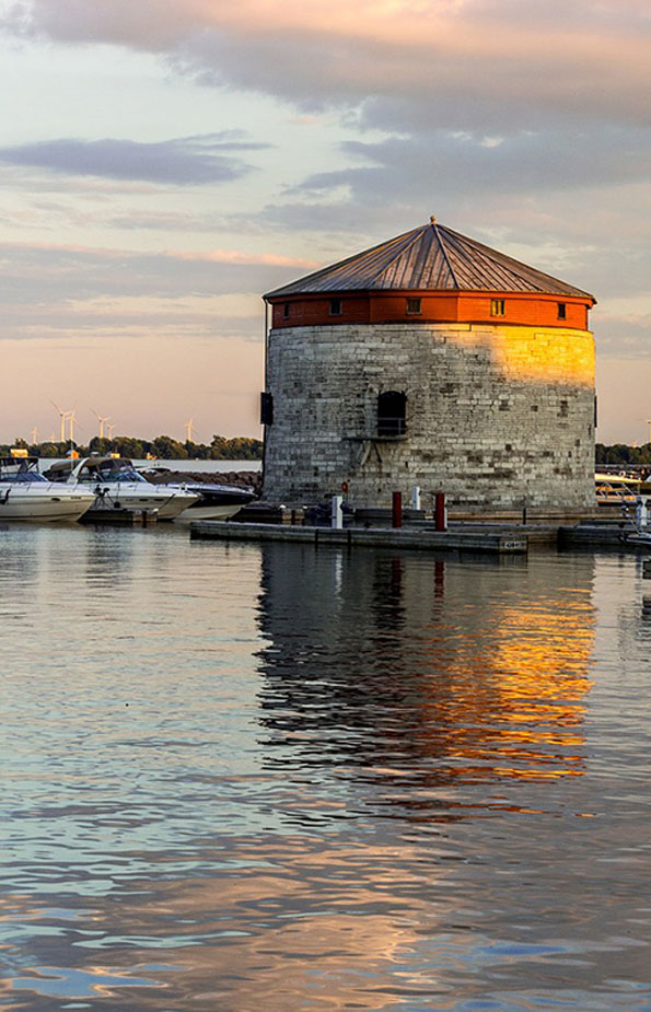 Kingston waterfront with Martello tower